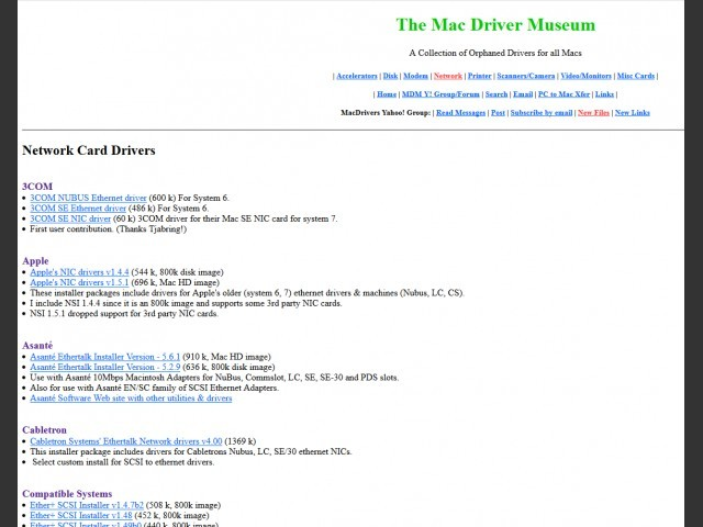 Mac Drivers Museum Archive (1990-2003) (2003)