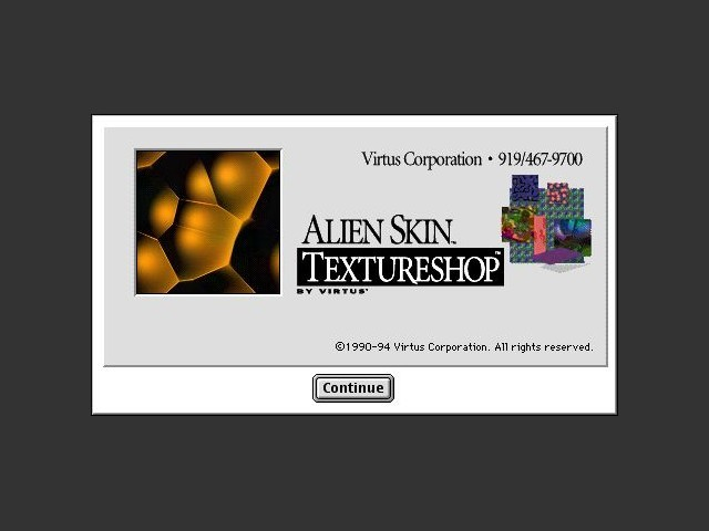 Virtus Alien Skin Textureshop (1994)