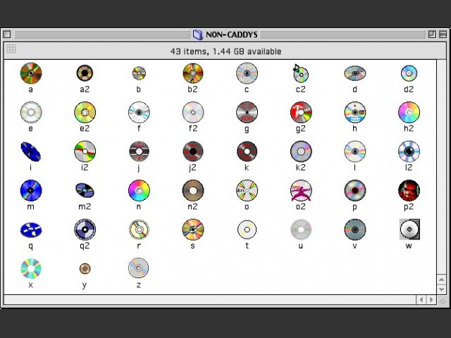 CD and CD caddy icons (1995)
