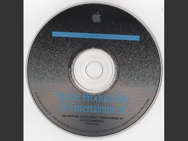 Apple Demo Applications CD - Home Productivity & Entertainment (1993)