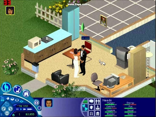 The Sims (2000) gameplay