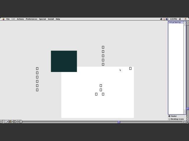 Virtual Desktop configuration interface