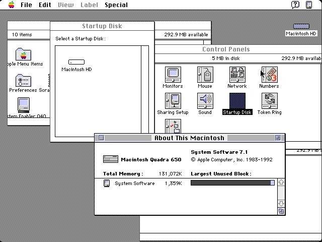 Mac OS 7.1 About screen