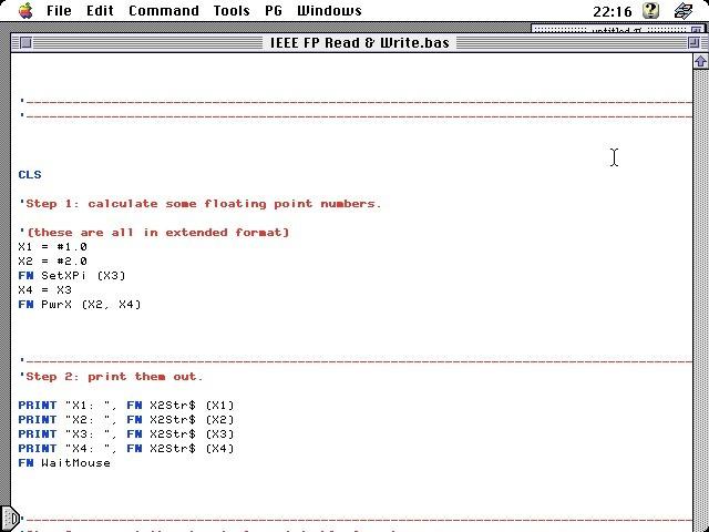 FutureBASIC II 2.3.1 Example code