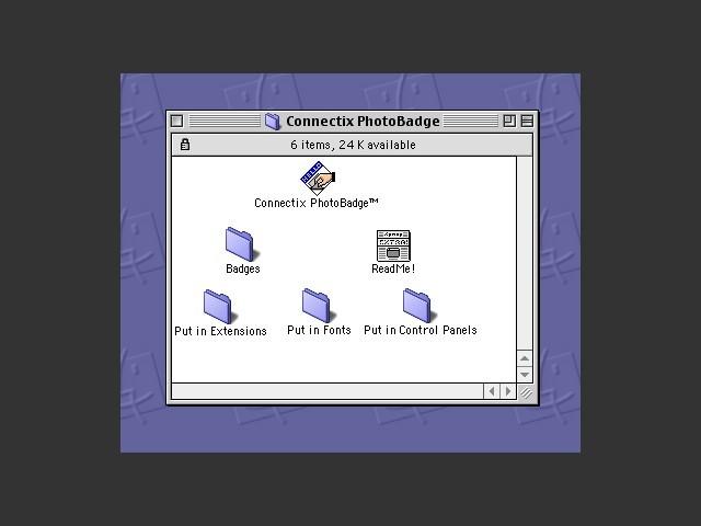 Connectix PhotoBadge 1.0 (1996)