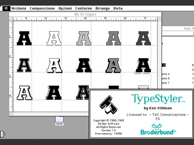 TypeStyler 1.0 (Italian) (1989)