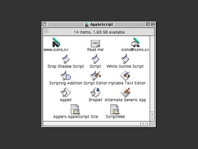AppleScript Icons (1999)
