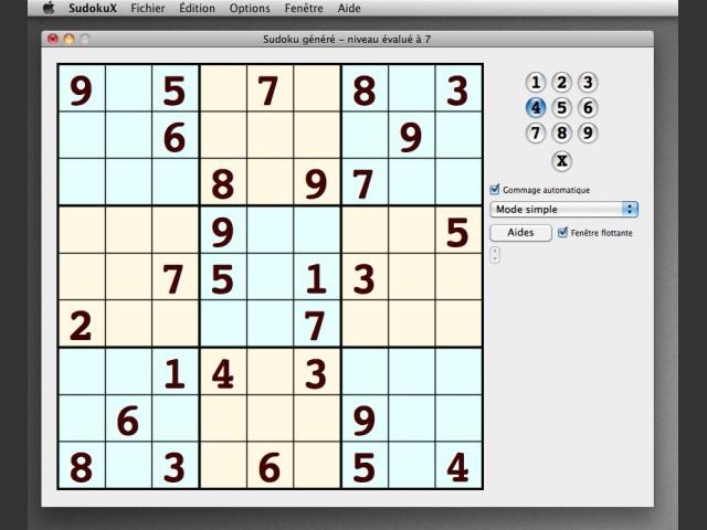 SudokuX 1.0 RC1 (2007)