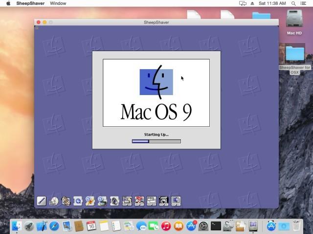 SheepShaver running Mac OS 9.0.4 on Mac OS X 10.10 Yosemite