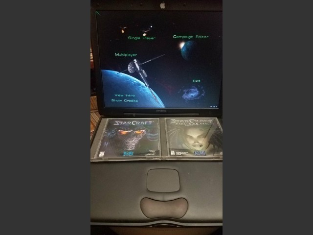 StarCraft + Brood War CD's + Game running photo