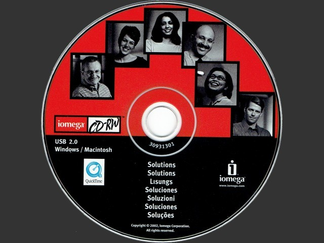 Iomega CDRW Solutions Hybrid (Mac/Win) CD (2002)