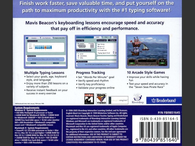 Mavis Beacon Teaches Typing - Version 17 (2005)