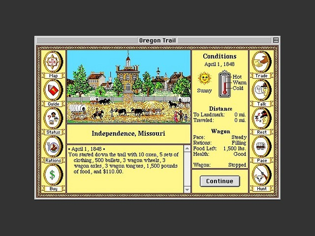 The Oregon Trail in color.