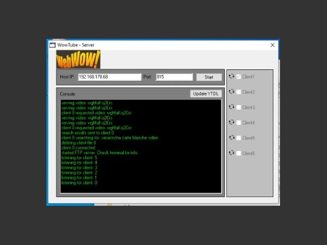 WowTube V2 - Server (required tool)