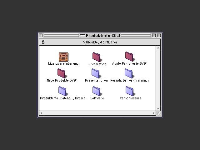 Apple Produktinfo CD 1990-1991 (German) (1991)