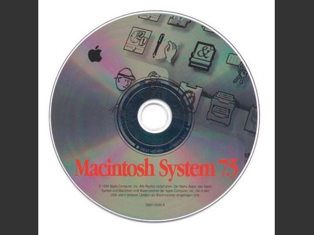 Macintosh System 7.5. SSW v7.5.0. Disc v1.0 (CD) [German] (1994)