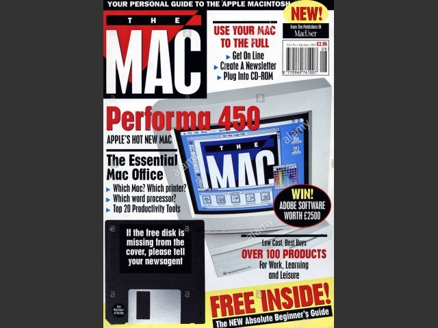 """The Mac"" - magazine cover floppy disks (1993)"