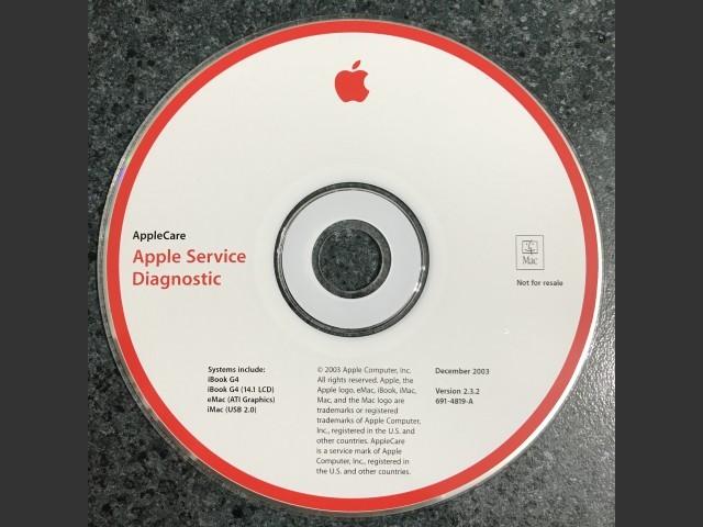 AppleCare Service Diagnostic v2.3.2 iBook G4,iBook G4 (14.1 LCD),eMac (ATI Graphics),iMac (USB 2.0)... (2003)