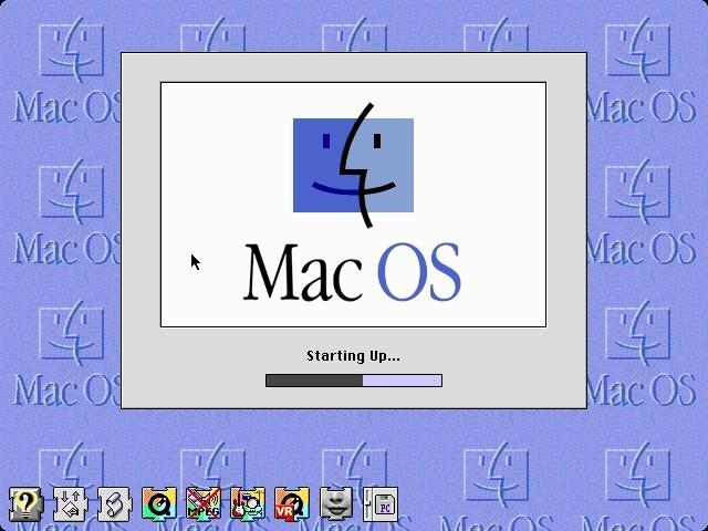 Mac OS 8.1 booting