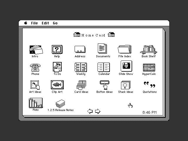 HyperCard 1.2.5: Home