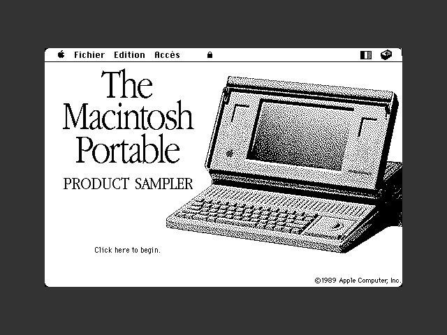 Apple Macintosh Portable Product Sampler Disks & Stack (1990)