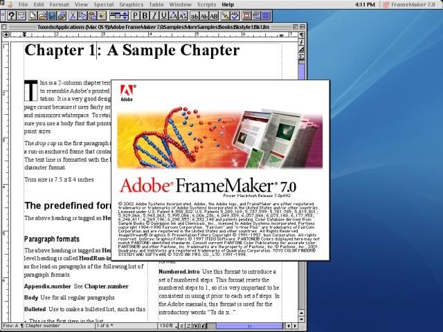 Adobe FrameMaker 7.0 - Macintosh Repository