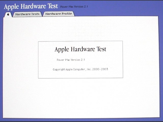 Apple Hardware Test for PowerMac G5 (2003)