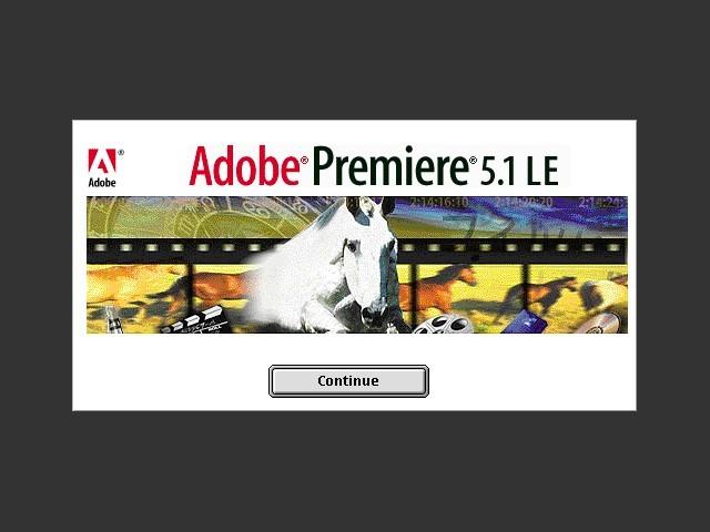 Adobe Premiere 5.1 LE (EN, FR, DE, JP) (1999)