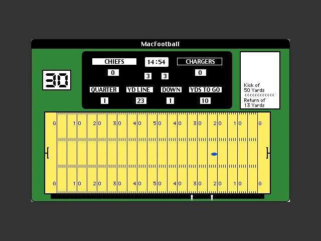 MacFootball v2.0 gameplay