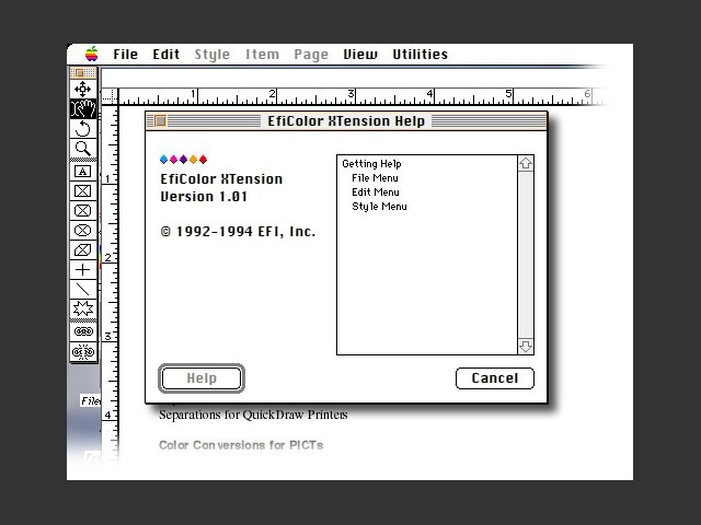 QuarkXPress - EFIColor Process (1994)