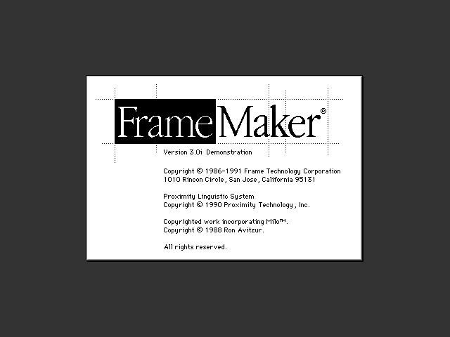 FrameMaker 3 (1991)