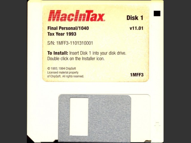 MacInTax 1993 (1994)
