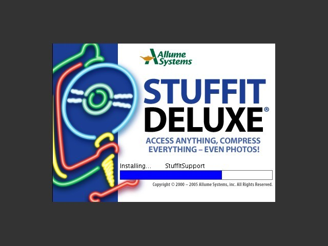 Stuffit Deluxe 10.0 installing
