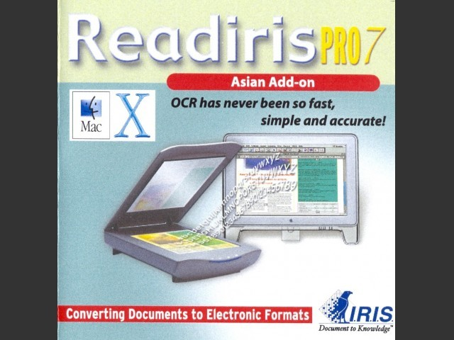 Readiris Pro 7 Asian Add-on (2002)