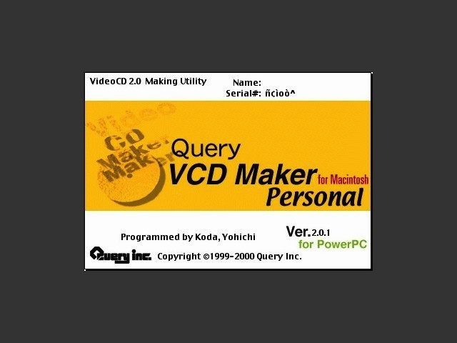 VCDMaker Personal 2.x (2000)