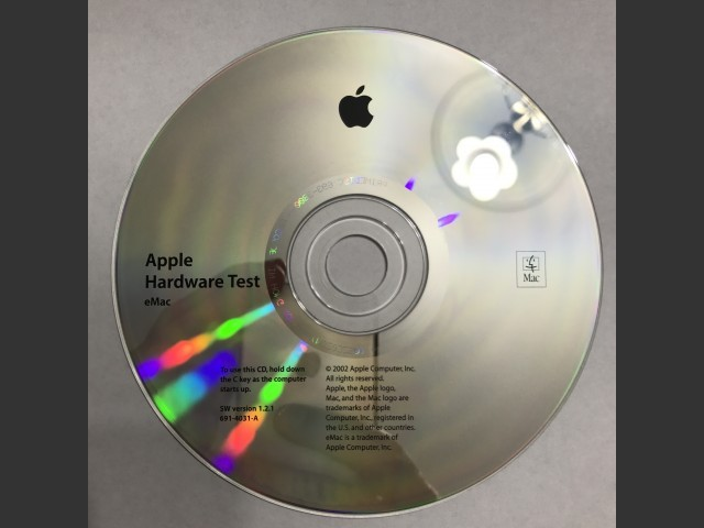 Apple Hardware Test for eMac G4 v1.2.1 (2002)