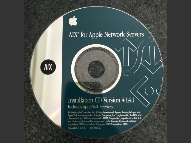 AIX for Apple Network Servers v4.1.4.1 (1996)