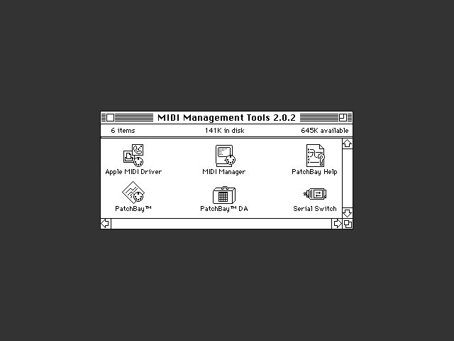 Apple MIDI Manager 2.0.2 (1993)