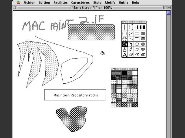 Claris MacPaint 2.1F / Main Interface