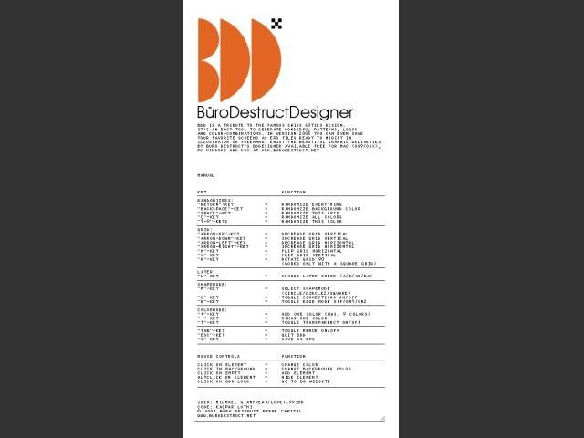 BüroDestructDesigner (2003)
