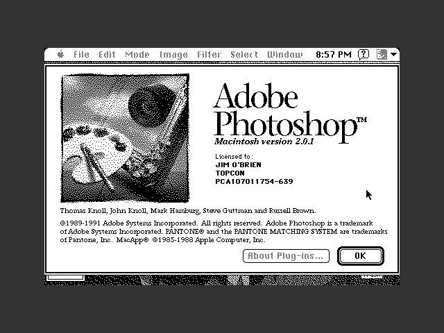 Adobe Photoshop 2.0.1 (1991)