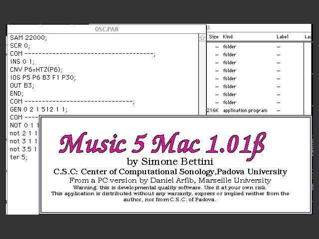 M5Mac (aka Music 5 Mac) (1993)