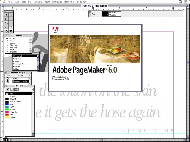 adobe pagemaker 6 0 macintosh repository. Black Bedroom Furniture Sets. Home Design Ideas