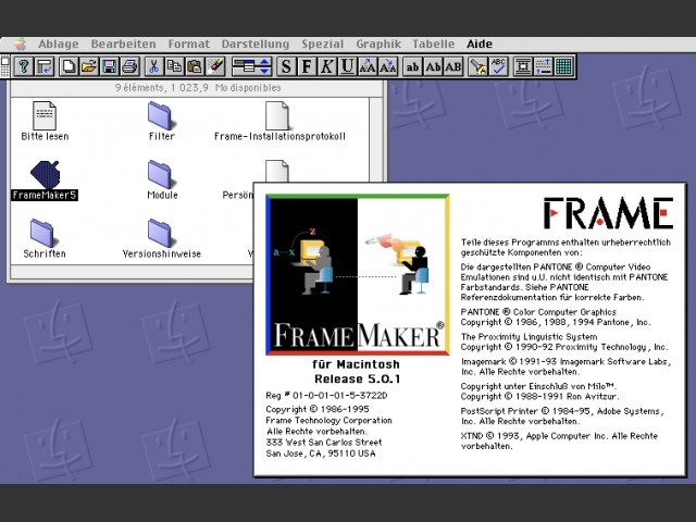 Adobe FrameMaker 5.0 (1995)