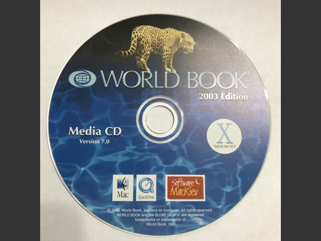 CD (version 7.0/2003 for OSX)
