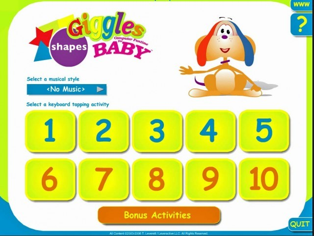 Giggles Computer Funtime for Baby: Shapes (2006)