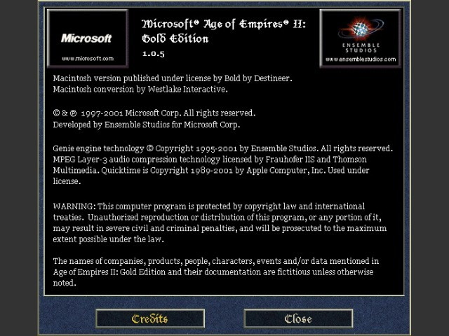 Age of Empires II (+ Gold Edition) - Macintosh Repository