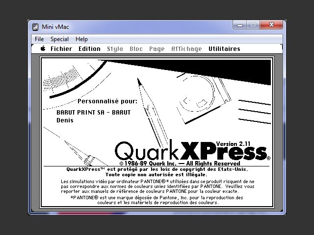 QuarkXPress 2.11 FR (1989)