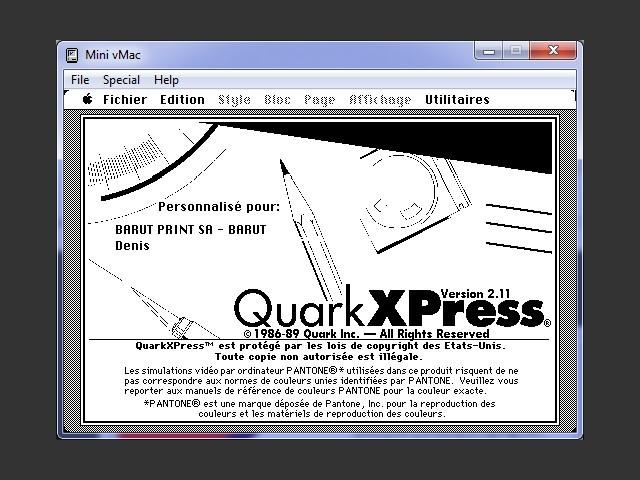 QuarkXPress 2.11 FR (1989)