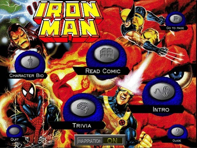 Iron Man: Interactive CD-ROM Comic Book! (1995)